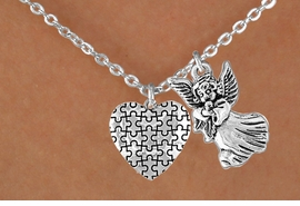<bR>                EXCLUSIVELY OURS!!<Br>          AN ALLAN ROBIN DESIGN!!<BR>               LEAD & NICKEL FREE!!<BR>       W16011N - GUARDIAN ANGEL<Br>      & AUTISM AWARENESS HEART<Br>            NECKLACE &#169;2010 FROM<bR>                      $4.85 TO $8.50