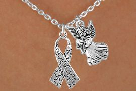 <bR>                EXCLUSIVELY OURS!!<Br>          AN ALLAN ROBIN DESIGN!!<BR>               LEAD & NICKEL FREE!!<BR>       W16015N - GUARDIAN ANGEL<Br>    & AUTISM AWARENESS RIBBON<Br>            NECKLACE &#169;2010 FROM<bR>                       $4.85 TO $8.50