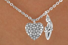 <bR>                EXCLUSIVELY OURS!!<Br>          AN ALLAN ROBIN DESIGN!!<BR>               LEAD & NICKEL FREE!!<BR>    W16027N - MOTHER AND CHILD<Br>      & AUTISM AWARENESS HEART<Br>            NECKLACE &#169;2010 FROM<Br>                      $4.85 TO $8.50
