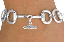 """<Br>            EXCLUSIVELY OURS!!<Br>      AN ALLAN ROBIN DESIGN!!<Br>           LEAD & NICKEL FREE!!<Br>W16327B - BIT-LINK BRACELET<Br>    & """"COWGIRL"""" CHARM FROM<Br>          $7.85 TO $17.50 &#169;2010"""