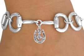 <Br>              EXCLUSIVELY OURS!!<Br>        AN ALLAN ROBIN DESIGN!!<Br>             LEAD & NICKEL FREE!!<Br> W16328B - BIT-LINK BRACELET<Br>& HORSESHOE AND BOOT CHARM<Br>    FROM $7.85 TO $17.50 &#169;2010