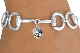 <Br>                EXCLUSIVELY OURS!!<Br>          AN ALLAN ROBIN DESIGN!!<Br>               LEAD & NICKEL FREE!!<Br>  W16330B - BIT-LINK BRACELET &<Br>BARREL RACER HEART CHARM FROM<Br>              $7.85 TO $17.50 &#169;2010