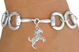 <Br>              EXCLUSIVELY OURS!!<Br>       AN ALLAN ROBIN DESIGN!!<Br>             LEAD & NICKEL FREE!!<Br> W16332B - BIT-LINK BRACELET<Br> & WILD STALLION CHARM FROM<Br>           $7.85 TO $17.50 &#169;2010