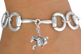 <Br>              EXCLUSIVELY OURS!!<Br>        AN ALLAN ROBIN DESIGN!!<Br>             LEAD & NICKEL FREE!!<Br>W16333B - BIT-LINK BRACELET &<Br> 3-D BARREL RACER CHARM FROM<Br>            $7.85 TO $17.50 &#169;2010