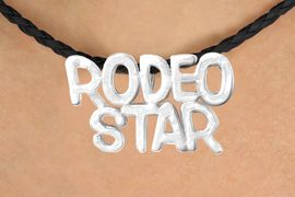 "<BR>                     EXCLUSIVELY OURS!!<Br>               AN ALLAN ROBIN DESIGN!!<bR>                    LEAD & NICKEL FREE!!<Br>   W16371N - ""RODEO STAR"" MARQUEE<Br>PENDANT & BLACK BRAIDED NECKLACE<Br>          FROM $4.50 TO $10.00 &#169;2010"