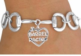 "<Br>              EXCLUSIVELY OURS!!<Br>        AN ALLAN ROBIN DESIGN!!<Br>             LEAD & NICKEL FREE!!<Br>  W16392B - BIT-LINK BRACELET<Br>& ""I LOVE HORSES"" CHARM FROM<Br>            $7.85 TO $17.50 &#169;2010"