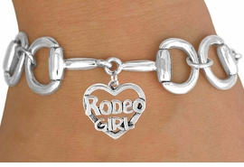 "<Br>            EXCLUSIVELY OURS!!<Br>      AN ALLAN ROBIN DESIGN!!<Br>           LEAD & NICKEL FREE!!<Br>W16394B - BIT-LINK BRACELET<Br> & ""RODEO GIRL"" CHARM FROM<Br>          $7.85 TO $17.50 &#169;2010"