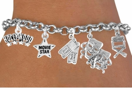 <Br>                  EXCLUSIVELY OURS!!<Br>           AN ALLAN ROBIN DESIGN!!<Br>                 LEAD & NICKEL FREE!!<Br>W16395B - DRAMA THEME 5-CHARM<Br>     BRACELET FROM $7.31 TO $16.25