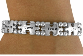 <bR>                 EXCLUSIVELY OURS!!<Br>          AN ALLAN ROBIN DESIGN!!<Br>               LEAD & NICKEL FREE!!<Br>W16446B - INSPIRATIONAL AUTISM<Br>AWARENESS PUZZLE PIECE STRETCH<Br>             BRACELET &#169;2010 FROM<bR>                      $7.85 TO $17.50