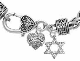 <bR>               EXCLUSIVELY OURS!!<BR>         AN ALLAN ROBIN DESIGN!!<BR>            LEAD & NICKEL FREE!! <BR>W1758-1670B1 - JEWISH BAS MITZVAH <BR>BRACELET FROM $7.50 TO $12.50 �2017