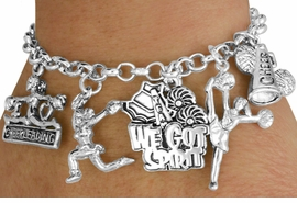 <Br>                            EXCLUSIVELY OURS!!<Br>                      AN ALLAN ROBIN DESIGN!!<Br>                   LEAD, CADMIUM, & NICKEL FREE!!<Br>                  W18042B2 - CHEER THEME FIVE<BR>          CHARM BRACELET  $10.38 EACH  �2011