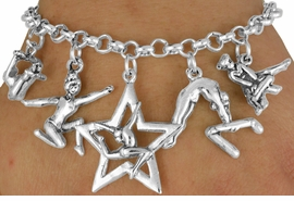 <Br>                EXCLUSIVELY OURS!!<Br>          AN ALLAN ROBIN DESIGN!!<Br>               LEAD & NICKEL FREE!!<Br> W18043B - GYMNASTICS THEME FIVE<BR>CHARM BRACELET FROM $7.31 TO $16.25  �2011