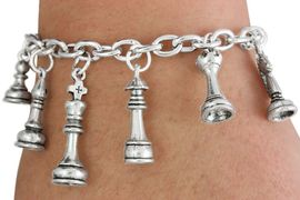 <Br>                EXCLUSIVELY OURS!!<Br>          AN ALLAN ROBIN DESIGN!!<Br>               LEAD & NICKEL FREE!!<Br> W18757B - CHESS THEME SIX CHARM <BR>BRACELET FROM $15.19 TO $33.75  �2011