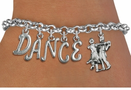 "<Br>              EXCLUSIVELY OURS!!<Br>        AN ALLAN ROBIN DESIGN!!<Br>             LEAD & NICKEL FREE!! <Br>W19601B - SILVER TONE ""DANCE"" <BR>BALL ROOM THEMED CHARM BRACELET  <BR>     FROM $8.44 TO $18.75  �2012"