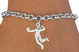 "<bR>             EXCLUSIVELY OURS!!<Br>       AN ALLAN ROBIN DESIGN!!<bR>            LEAD & NICKEL FREE!!<BR>W356SB - ""VOLLEYBALL SERVE""<Br>   & BRACELET AS LOW AS $4.50"