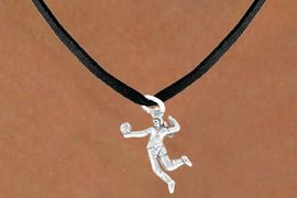 """<bR>            EXCLUSIVELY OURS!!<Br>      AN ALLAN ROBIN DESIGN!!<Br>           LEAD & NICKEL FREE!!<BR>W356SN - """"VOLLEYBALL SERVE""""<Br>  & NECKLACE AS LOW AS $4.50"""
