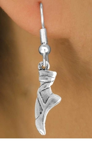 "<bR>         EXCLUSIVELY OURS!! <Br>   AN ALLAN ROBIN DESIGN!! <BR>        LEAD & NICKEL FREE!!<BR> W745SE - ""BALLET SLIPPER"" <BR>       CHARM EARRINGS <br>       AS LOW AS $3.25"