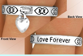 """<BR>                  EXCLUSIVELY OURS!!!<Br>             AN ALLAN ROBIN DESIGN!<Br>   W11890R - """"LOVE FOREVER"""" HEART<br>DROP STRETCH RING FROM $2.25 TO $5.00"""