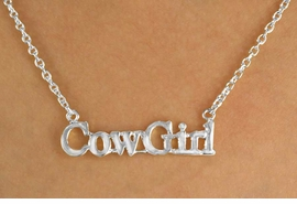 "<bR>                EXCLUSIVELY OURS!!!<Br>            AN ALLAN ROBIN DESIGN!<BR>W11968N - SILVER TONE ""COWGIRL""<Br>         NECKLACE FROM $2.81 TO $6.25<BR>                                &#169;2009"
