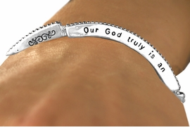 "<Br>                    EXCLUSIVELY OURS!!<Br>             AN ALLAN ROBIN DESIGN!!<Br>      W12602B - ""OUR GOD TRULY IS<Br>      AN AWESOME GOD"" STACKABLE<Br>STRETCH BRACELET AS LOW AS $4.40"