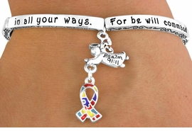 "<bR>                  EXCLUSIVELY OURS!!<Br>             AN ALLAN ROBIN DESIGN!<bR>W12656B - ""FOR HE WILL COMMAND<Br>    HIS ANGELS CONCERNING YOU...""<Br>         GUARDIAN ANGEL & AUTISM<Br>       AWARENESS RIBBON STRETCH<Br>              BRACELET &#169;2010 FROM<bR>                        $5.06 TO $11.25"
