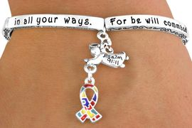 """<bR>                  EXCLUSIVELY OURS!!<Br>             AN ALLAN ROBIN DESIGN!<bR>W12656B - """"FOR HE WILL COMMAND<Br>    HIS ANGELS CONCERNING YOU...""""<Br>         GUARDIAN ANGEL & AUTISM<Br>       AWARENESS RIBBON STRETCH<Br>              BRACELET &#169;2010 FROM<bR>                        $5.06 TO $11.25"""