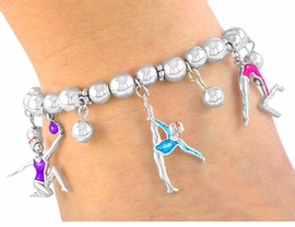 """<BR>             """"EXCLUSIVELY OURS""""<bR>        AN ALLAN ROBIN DESIGN!!<BR>W3046B - GYMNASTICS STRETCH<BR>   LEAD, CADMIUM, 7 NICKLE FREE!<br>          CHARM BRACELET FROM<Br>                       $6.75 �2008"""