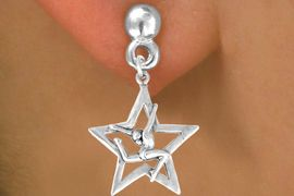 """<bR>                   EXCLUSIVELY OURS!!<BR>     CLICK HERE TO SEE 120+ EXCITING<BR>       CHANGES THAT YOU CAN MAKE!<BR>                  LEAD & NICKEL FREE!!<BR>W415SE - """"STAR GYMNAST STAG LEAP""""<Br>           & EARRING FROM $4.50 TO $8.35"""