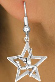 """<bR>                   EXCLUSIVELY OURS!!<BR>     CLICK HERE TO SEE 120+ EXCITING<BR>       CHANGES THAT YOU CAN MAKE!<BR>                  LEAD & NICKEL FREE!!<BR>W415SE - """"STAR GYMNAST STAG LEAP""""<Br>           & EARRING FROM $4.50 TO $8.35<BR>                           �2008"""