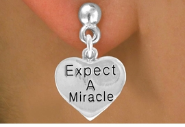 "<bR>                 EXCLUSIVELY OURS!!<BR>    CLICK HERE TO SEE 120+ EXCITING<BR>     CHANGES THAT YOU CAN MAKE!<BR>                LEAD & NICKEL FREE!!<BR>       W425SE - ""EXPECT MIRACLES""<Br>HEART & EARRINGS FROM $4.50 TO $8.35"