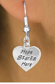 "<bR>                EXCLUSIVELY OURS!!<BR> CLICK HERE TO SEE 120+ EXCITING<BR>   CHANGES THAT YOU CAN MAKE!<BR>              LEAD & NICKEL FREE!!<BR>    W443SE - ""HOPE STARTS HERE""<Br>HEART & EARRING FROM $4.50 TO $8.35"