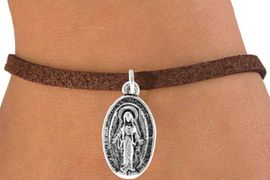 <bR>              EXCLUSIVELY OURS!!<BR>CLICK HERE TO SEE 120+ EXCITING<BR>  CHANGES THAT YOU CAN MAKE!<BR>             LEAD & NICKEL FREE!!<BR>W444SB - 2-SIDED VIRGIN MARY<BR>  BRACELET FROM $4.50 TO $8.35