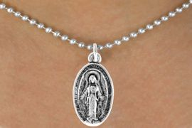 <bR>              EXCLUSIVELY OURS!!<BR>CLICK HERE TO SEE 120+ EXCITING<BR>  CHANGES THAT YOU CAN MAKE!<BR>              LEAD & NICKEL FREE!!<BR>W444SN - 2-SIDED VIRGIN MARY<Br>    NECKLACE FROM $4.50 TO $8.35