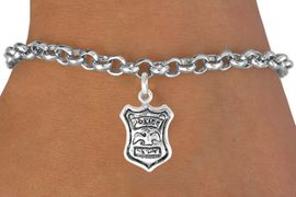 <bR>               EXCLUSIVELY OURS!!<BR>CLICK HERE TO SEE 120+ EXCITING<BR>   CHANGES THAT YOU CAN MAKE!<BR>              LEAD & NICKEL FREE!!<BR>       W447SB - POLICE SHIELD &<BR>       BRACELET AS LOW AS $4.50