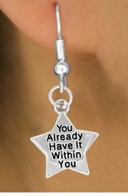 """<bR>                 EXCLUSIVELY OURS!!<BR>   CLICK HERE TO SEE 120+ EXCITING<BR>     CHANGES THAT YOU CAN MAKE!<BR>                 LEAD & NICKEL FREE!!<BR>W448SE - """"YOU HAVE IT WITHIN YOU""""<Br>    STAR & EARRING FROM $4.50 TO $8.35"""