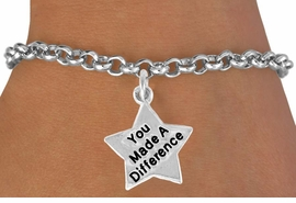 <bR>                EXCLUSIVELY OURS!!<BR>  CLICK HERE TO SEE 120+ EXCITING<BR>    CHANGES THAT YOU CAN MAKE!<BR>               LEAD & NICKEL FREE!!<BR>W461SB - YOU MADE A DIFFERENCE<BR> STAR & BRACELET AS LOW AS $4.50