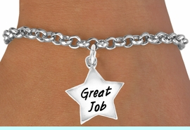 """<bR>              EXCLUSIVELY OURS!!<BR>CLICK HERE TO SEE 120+ EXCITING<BR>  CHANGES THAT YOU CAN MAKE!<BR>             LEAD & NICKEL FREE!!<BR>  W462SB - """"GREAT JOB"""" STAR &<BR>       BRACELET AS LOW AS $4.50"""