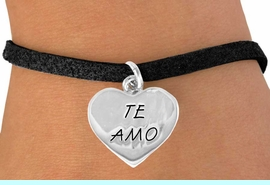 """<bR>              EXCLUSIVELY OURS!!<BR>CLICK HERE TO SEE 120+ EXCITING<BR>  CHANGES THAT YOU CAN MAKE!<BR>             LEAD & NICKEL FREE!!<BR>    W463SB - """"TE AMO"""" HEART &<BR>       BRACELET AS LOW AS $4.50"""