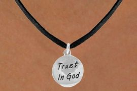 "<bR>               EXCLUSIVELY OURS!!<BR>CLICK HERE TO SEE 120+ EXCITING<BR>   CHANGES THAT YOU CAN MAKE!<BR>              LEAD & NICKEL FREE!!<BR>W465SN - ""TRUST IN GOD"" CIRCLE<br>  & NECKLACE FROM $4.50 TO $8.35"