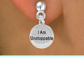 "<bR>               EXCLUSIVELY OURS!!<BR>CLICK HERE TO SEE 120+ EXCITING<BR>   CHANGES THAT YOU CAN MAKE!<BR>              LEAD & NICKEL FREE!!<BR>   W472SE - ""I AM UNSTOPPABLE""<Br>     & EARRINGS FROM $4.50 TO $8.35"