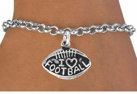 "<bR>               EXCLUSIVELY OURS!!<BR>CLICK HERE TO SEE 120+ EXCITING<BR>   CHANGES THAT YOU CAN MAKE!<BR>              LEAD & NICKEL FREE!!<BR>  W486SB - ""I LOVE FOOTBALL"" &<br>        BRACELET AS LOW AS $4.50"