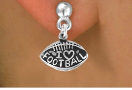 "<bR>               EXCLUSIVELY OURS!!<BR>CLICK HERE TO SEE 120+ EXCITING<BR>   CHANGES THAT YOU CAN MAKE!<BR>              LEAD & NICKEL FREE!!<BR>  W486SE - ""I LOVE FOOTBALL"" &<Br>        EARRINGS FROM $4.50 TO $8.35"