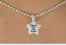 """<bR>                EXCLUSIVELY OURS!!<BR> CLICK HERE TO SEE 120+ EXCITING<BR>    CHANGES THAT YOU CAN MAKE!<BR>               LEAD & NICKEL FREE!!<BR>W487SN - """"REACH FOR THE STARS""""<Br>STAR & NECKLACE AS LOW AS $4.50<BR>                                 �2009"""