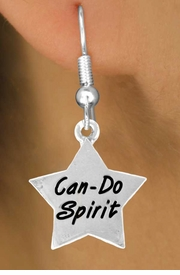 "<bR>              EXCLUSIVELY OURS!!<BR>CLICK HERE TO SEE 120+ EXCITING<BR>   CHANGES THAT YOU CAN MAKE!<BR>              LEAD & NICKEL FREE!!<BR>W488SE - ""CAN-DO SPIRIT"" STAR<Br>       & EARRING FROM $4.50 TO $8.35"