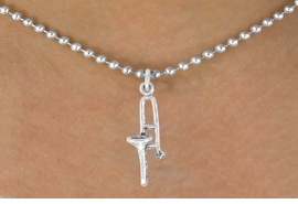<bR>                EXCLUSIVELY OURS!!<BR>  CLICK HERE TO SEE 120+ EXCITING<BR>    CHANGES THAT YOU CAN MAKE!<BR>               LEAD & NICKEL FREE!!<BR>W494SN - TROMBONE & NECKLACE<BR>                     AS LOW AS $4.50