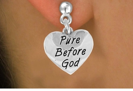 "<bR>              EXCLUSIVELY OURS!!<BR>CLICK HERE TO SEE 120+ EXCITING<BR>  CHANGES THAT YOU CAN MAKE!<BR>              LEAD & NICKEL FREE!!<BR> W503SE - ""PURE BEFORE GOD"" &<Br>    EARRINGS FROM $4.50 TO $8.35"