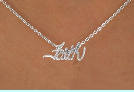 """<bR>               EXCLUSIVELY OURS!!<BR>CLICK HERE TO SEE 120+ EXCITING<BR>   CHANGES THAT YOU CAN MAKE!<BR>              LEAD & NICKEL FREE!!<BR>   W505SN - """"FAITH"""" & NECKLACE<BR>                 FROM $4.50 TO $8.35"""
