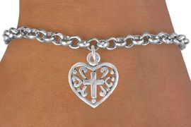 <bR>               EXCLUSIVELY OURS!!<BR>CLICK HERE TO SEE 120+ EXCITING<BR>   CHANGES THAT YOU CAN MAKE!<BR>              LEAD & NICKEL FREE!!<BR>  W509SB - HEART WITH CROSS &<Br>   BRACELET FROM $4.50 TO $8.35