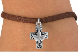 <bR>                EXCLUSIVELY OURS!!<BR> CLICK HERE TO SEE 120+ EXCITING<BR>    CHANGES THAT YOU CAN MAKE!<BR>               LEAD & NICKEL FREE!!<BR>    W511SB - PEACE DOVE & CROSS<Br>ON BRACELET FROM $4.50 TO $8.35