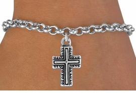 <bR>               EXCLUSIVELY OURS!!<BR>CLICK HERE TO SEE 120+ EXCITING<BR>   CHANGES THAT YOU CAN MAKE!<BR>              LEAD & NICKEL FREE!!<BR>   W512SB - CURLICUE CROSS ON<Br>   BRACELET FROM $4.50 TO $8.35